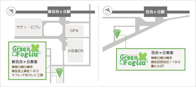 フラワーセラピーアレンジメント教室グリーンフォーリア地図